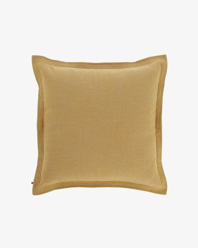 Capa de almofada Maelina 60 x 60 cm mostarda