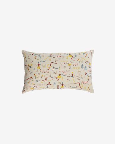 Itzayana 100% cotton multi-coloured cushion cover 30 x 50 cm