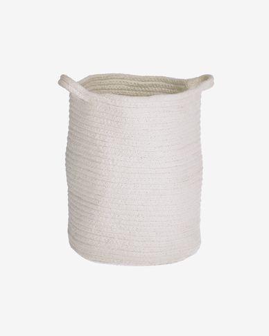 Cesto Abeni 100% cotone bianco