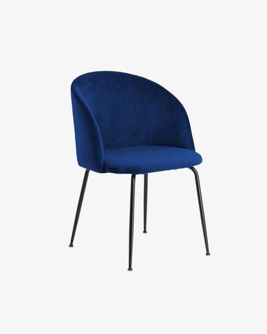 Chaise Laudelina velours bleu
