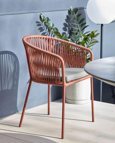 Yanet terracotta touw stoel