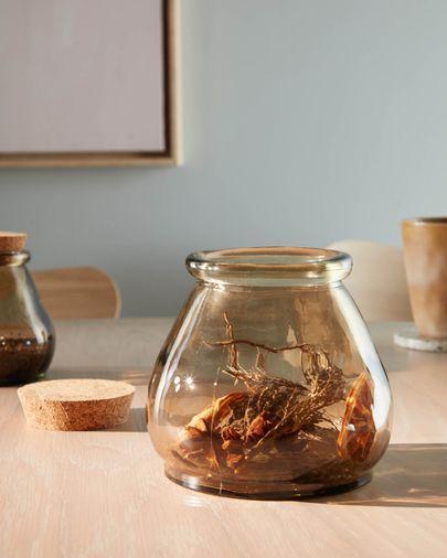 Rohan big brown glass jar 100% recycled