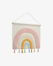 Tapiz mural Thaide 100% algodón (GOTS) arcoíris multicolor 60 x 52 cm