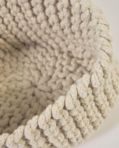 Set Llucia de 2 cestas 100% algodón blanco
