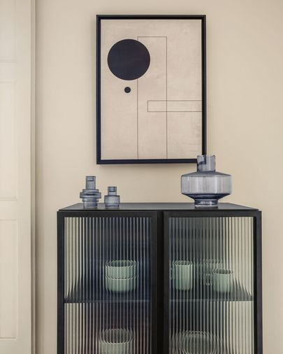 Obraz Myrthe czarne koło 50 x 70 cm