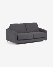 Sofà llit Celene gris fosc 168 cm