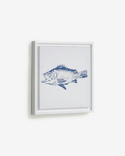 Tableau Lavinia poisson bleu 30 x 30 cm