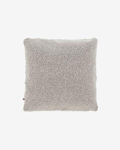 Funda coixí Vicki pell de borrec gris 45 x 45 cm