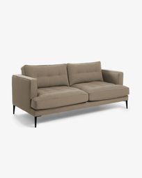 Brown 2-seater Tanya sofa 183 cm