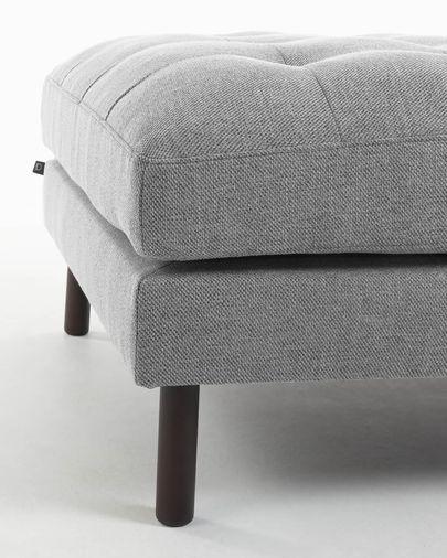 Reposapiés Debra 80 x 80 cm gris claro