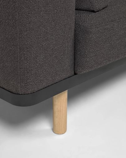 Noa 3-seater sofa with pillows and natural finishing legs 230 cm