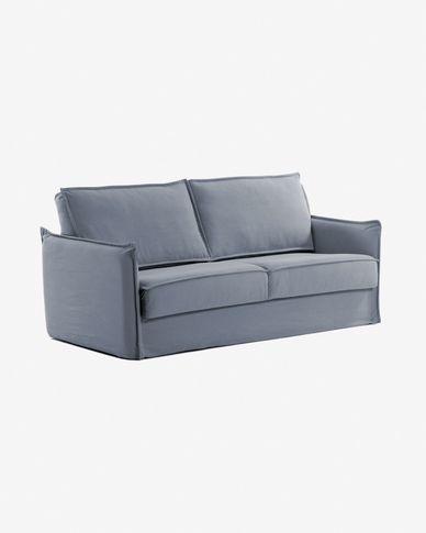 Canapé-lit Samsa 140 cm polyuréthane bleu