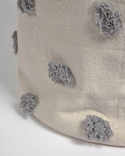 Panier Khrista grand 100% coton (GOTS) gris