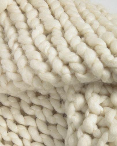 Manta Adonia 100% lana natural 125 x 150 cm