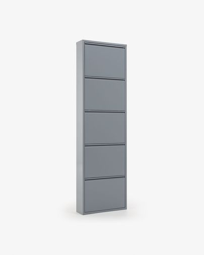 Shoe rack Ode 50 x 168,5 cm 5 doors grey