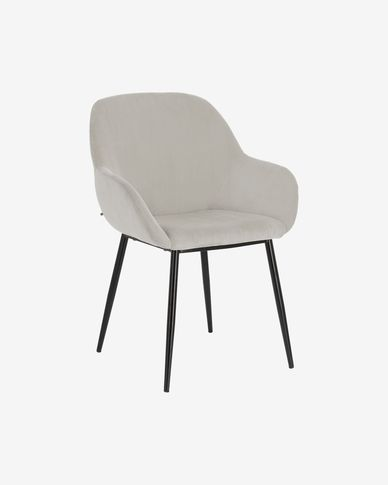 Konna chair in grey cord