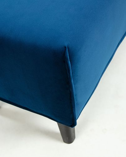 Cover bench Dyla blauw stof