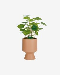 Bailey artificial plant with pink ceramic planter 21.6 cm