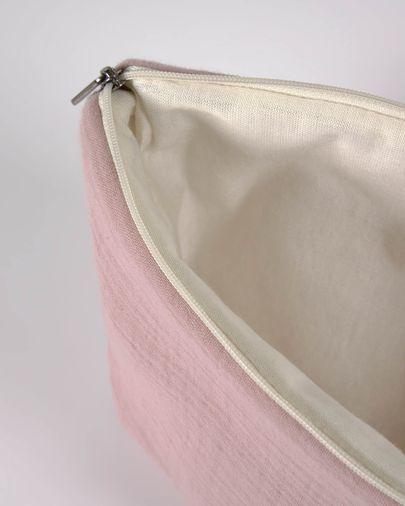 Trousse de toilette Breisa 100% coton bio (GOTS) rose