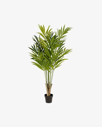 Planta artificial Palmera de bambú con maceta negro 170 cm