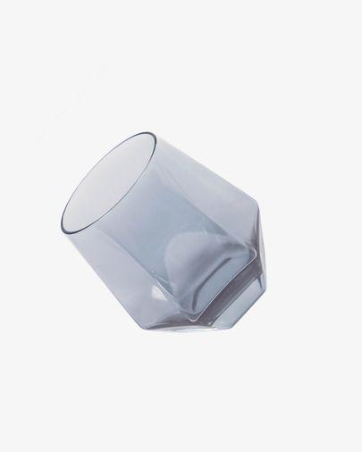 Vaso Lukina de vidrio gris oscuro