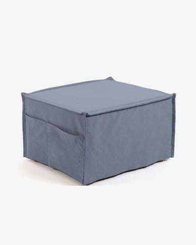 Puf llit Lizzie 70 x 60 (180) cm blau