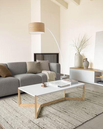 Quatro salontafel wit en essen 120 x 60 cm