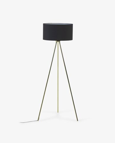 Ikia metal floor lamp with brass finish