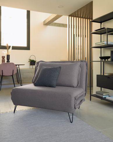 Miski sofa bed in grey 105 cm