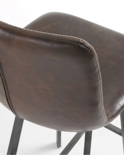 Dark brown Trap barstool height 81 cm
