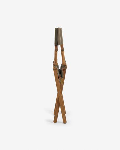 Cadeira dobrável de exterior Dalisa verde e de madeira maciça de acácia FSC 100%