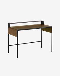 Walnut wood Nadyria desk 120 x 55 cm
