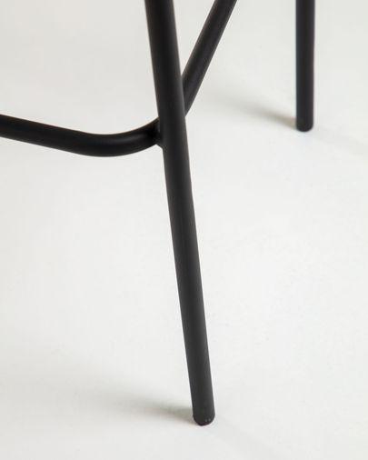 Sgabello Lambton nero altezza 74 cm