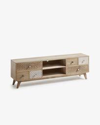 Móvel TV Hoob 160 x 51 cm madeira maciça de mangueira