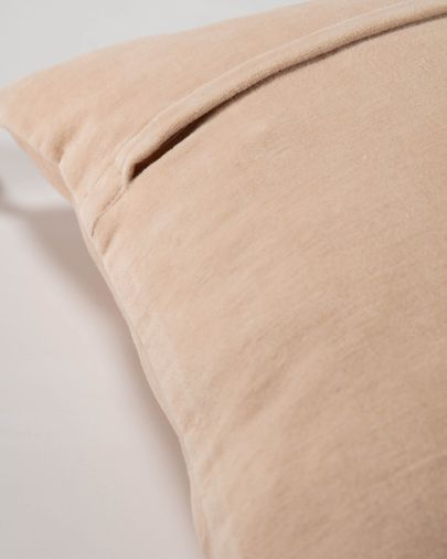 Carmin solid pink corduroy cushion cover 45 x 45 cm