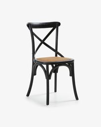 Alsie chair made from solid elm with a black finish