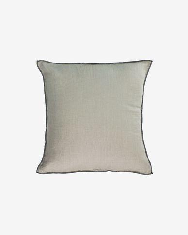 Funda cojín Elea 100% lino gris claro 45 x 45 cm