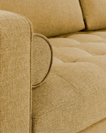Mustard  2-seater Debra sofa 182 cm