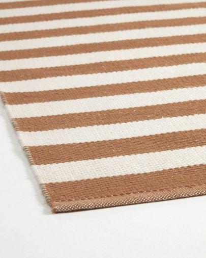 Aien tapijt in meerkleurig gestreept PET