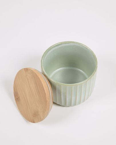 Small Itziar ceramic jar in green