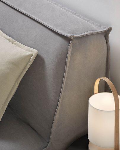 Lyanna sofa bed in grey 140 cm