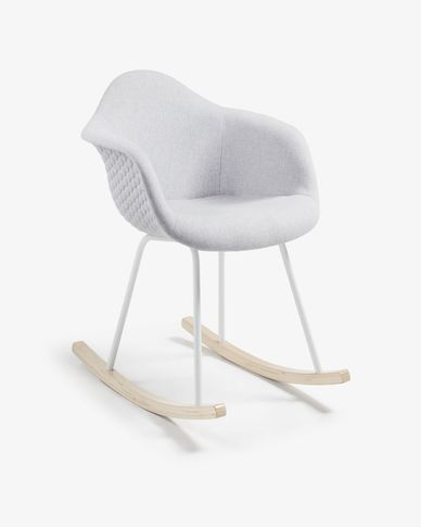 Light grey Kevya rocking chair
