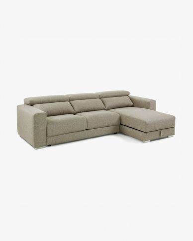 Sofà Atlanta 3 places chaise longue beix 290 cm