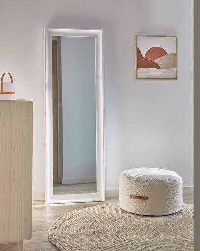 Miroir Romila 52 x 152,5 cm blanc