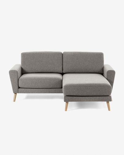 Sofá Narnia 3 plazas chaise longue gris claro 192 cm