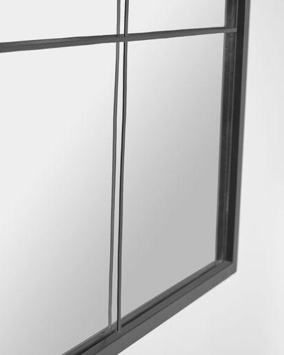 Espejo de pared Ulrica metal negro 80 x 80 cm