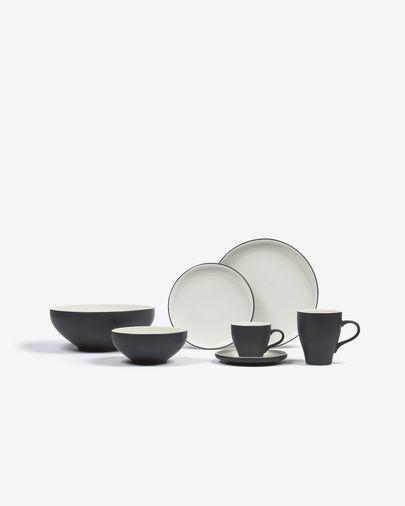 Sadashi Becher, Porzellan, schwarz und weiß