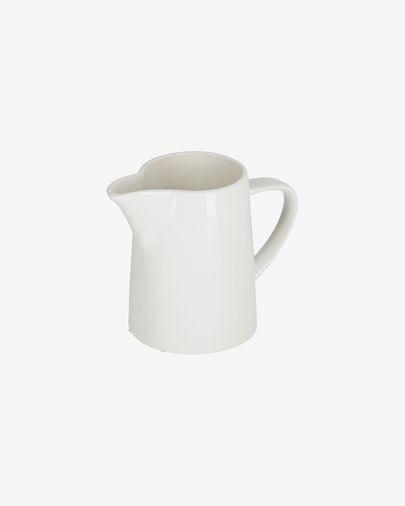 Pierina porcelain milk jug in white