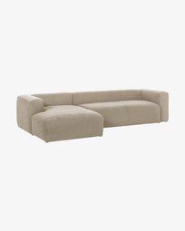 Divano Blok 3 posti chaise longue sinistra beige 330 cm