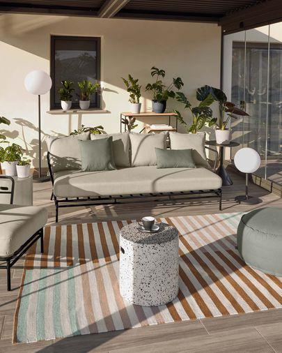 Grey Nedra cushion cover 30 x 50 cm